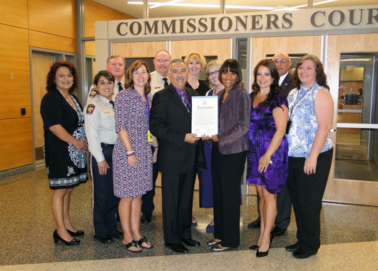Commissioners Court Proclamation for Domestic Violence Month